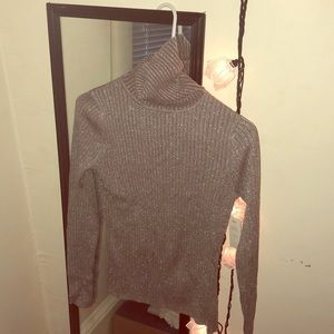 Turtle neck sparkly sweater